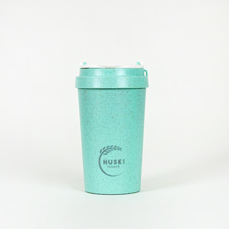 Recycled Rice Husk Coffee Cup 400ml - Lagoon