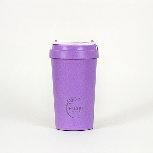 Recycled Rice Husk Coffee Cup 400ml - Violet