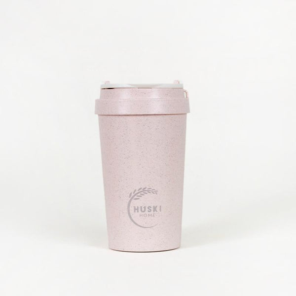 Recycled Rice Husk Coffee Cup 400ml - Rose Pink