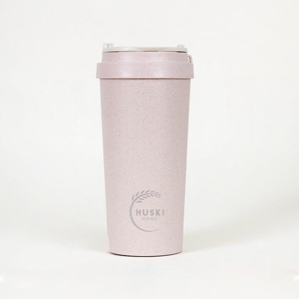Recycled Rice Husk Coffee Cup 500ml - Rose Pink