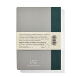 Recycled Hard Cover Notebook - Green Plain
