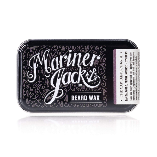 The Captain's Charge Natural Beard & Moustache Wax - Sandalwood, Frankincense & Cypress 30ml