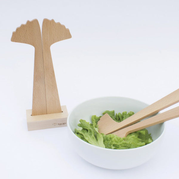 Wooden Salad Servers - Ginkgo by Reine Mere