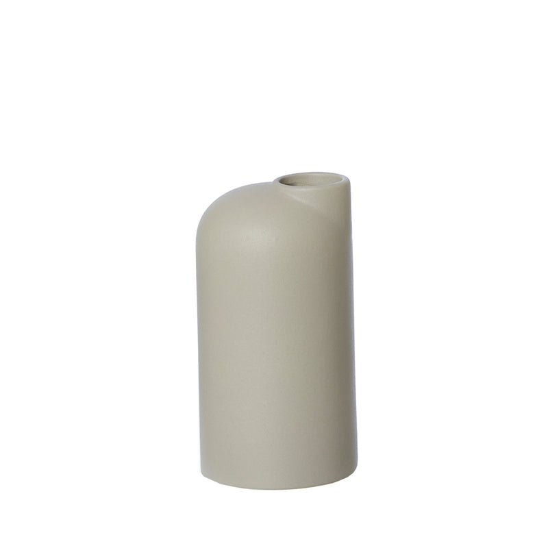 Anna Ceramic Vase - Small Taupe by Oohh Collection