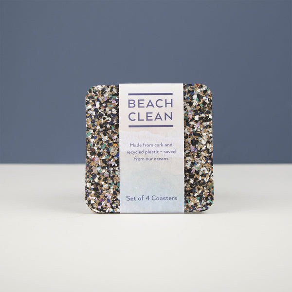 Beach Clean Set of 4 Recycled Coasters by Liga