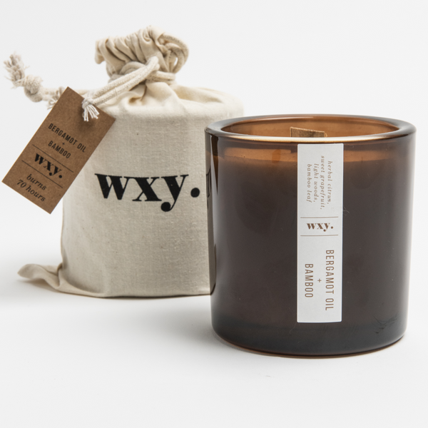 Luxury Soy Wax Candle - Big Amber Bergamot & Bamboo