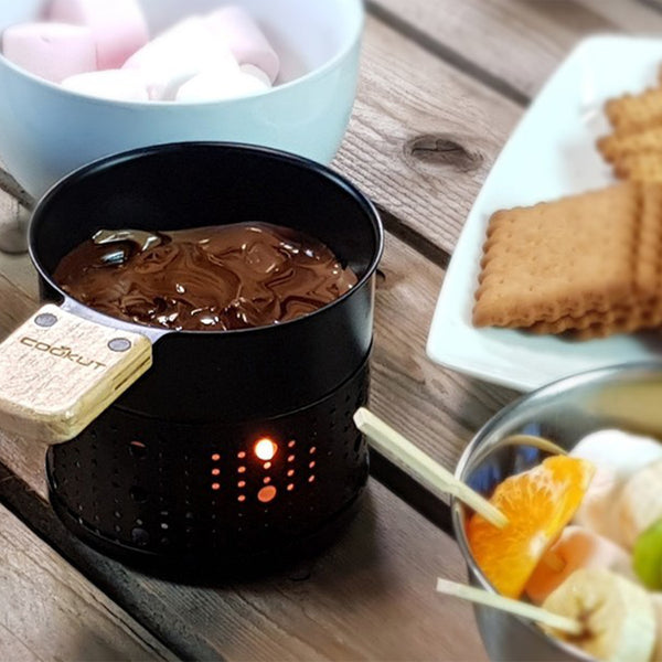 Plastic Free Chocolate Fondue Set for 2 by Cookut
