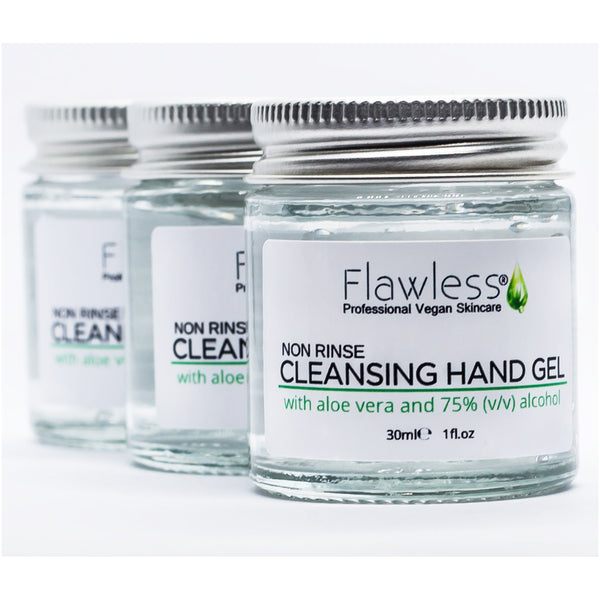 Vegan Cleansing Hand Sanitiser Gel by Flawless