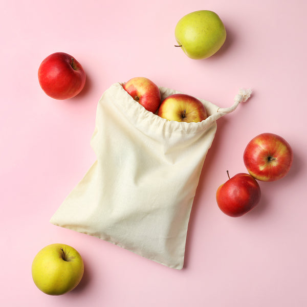 Set of 3 Organic Cotton Produce Bag Small Medium Large