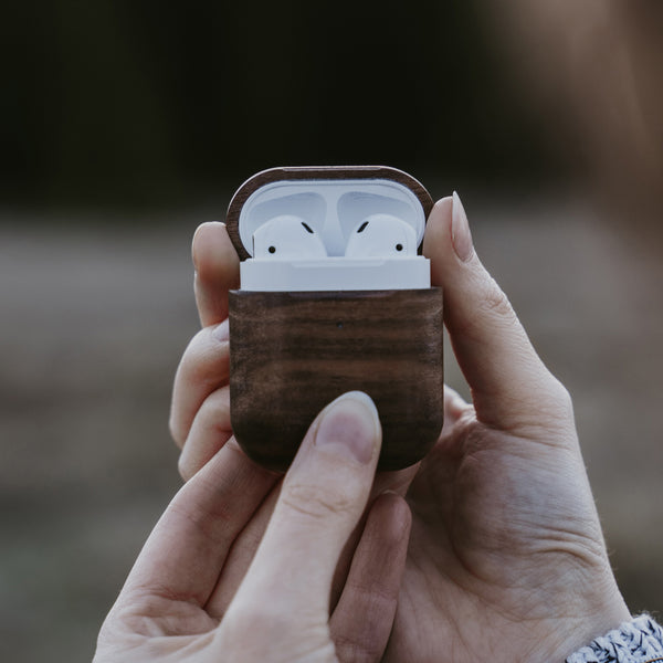 Solid Walnut Wood AirPods Case by Oakywood