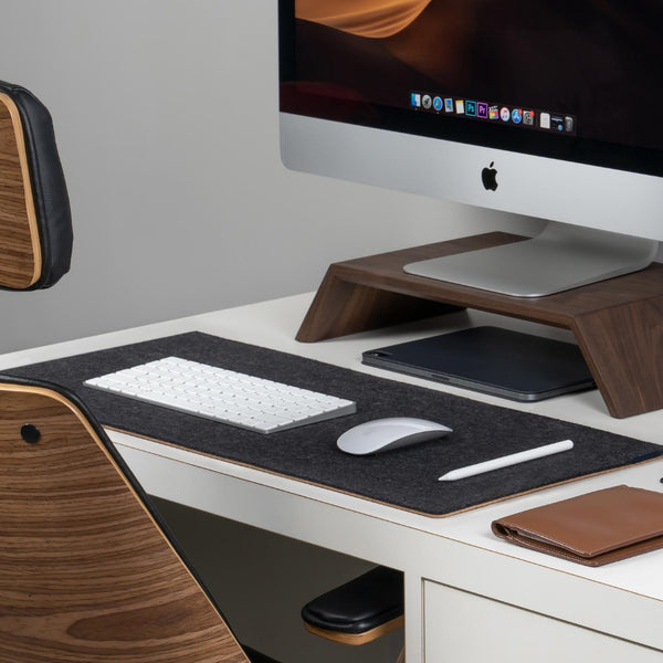 Natural Felt & Cork Desk Mat by Oakywood