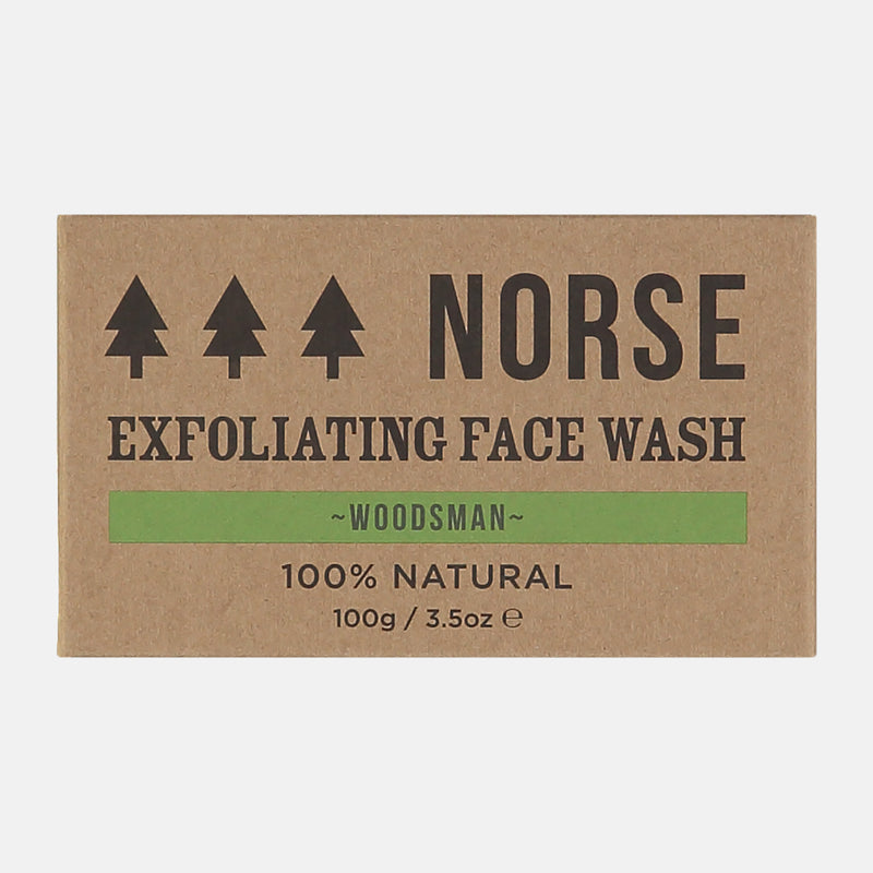 Exfoliating Vegan Face Wash Soap Bar - Woodsman by Norse