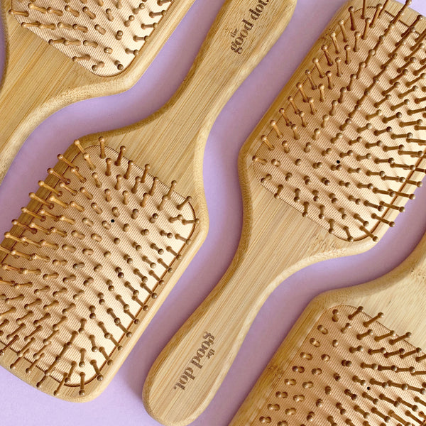 Bamboo Paddle Hair Brush by The Good Dot
