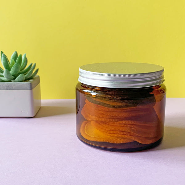 Amber Glass Storage Jar 500ml with Aluminium Lid