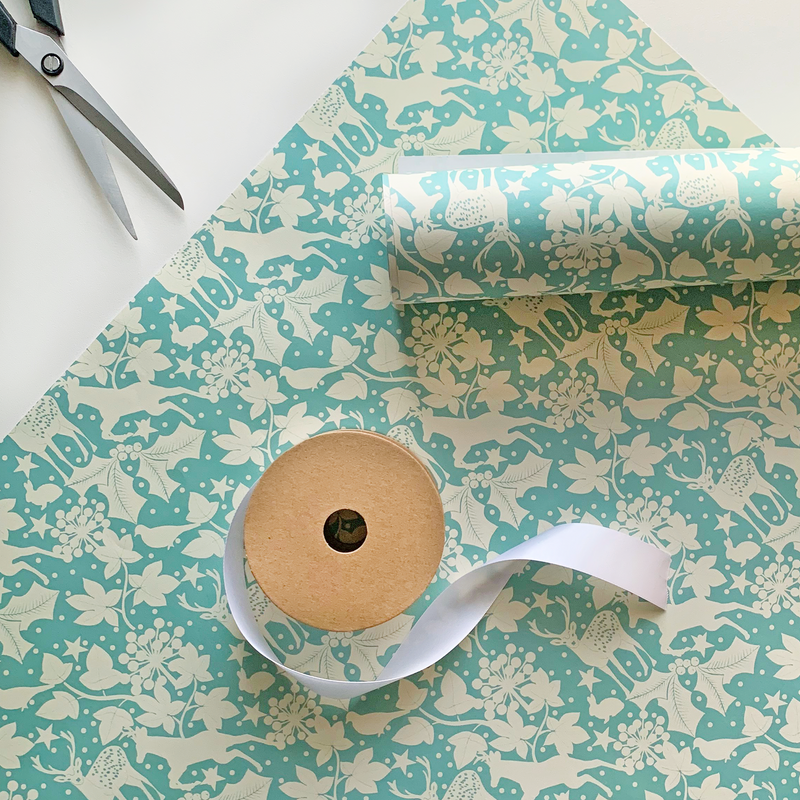 Recyclable Christmas Wrapping Paper - Winter Wonderland by Rewrapped
