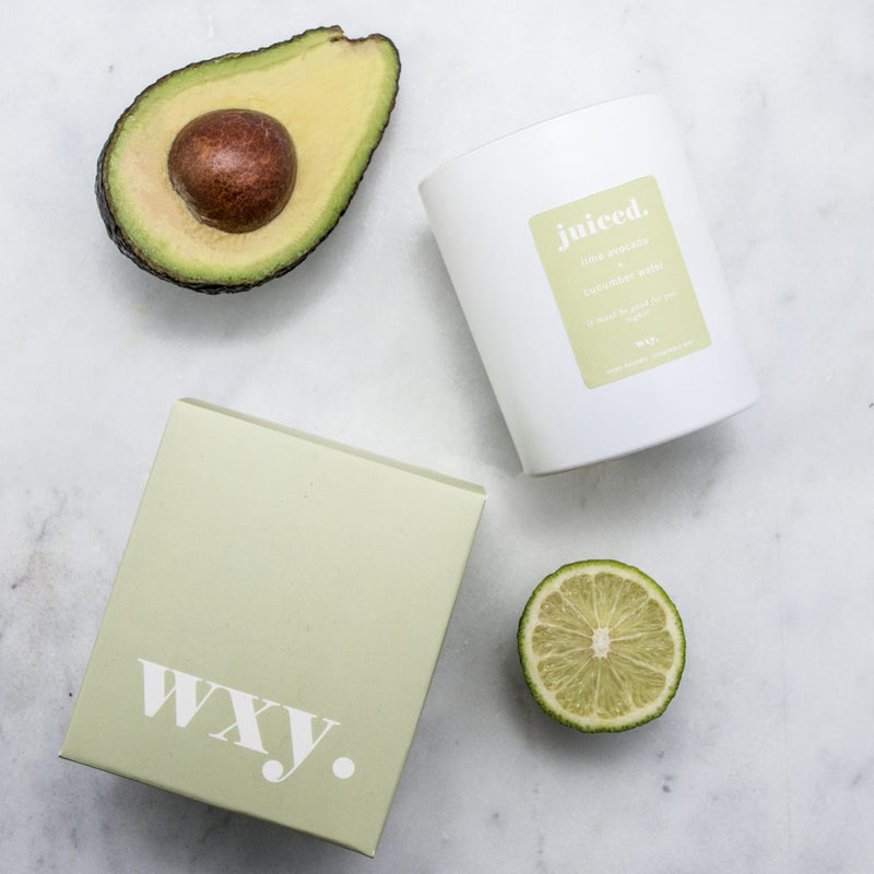 Large Luxury Soy Wax Candle - Classic Lime Avocado & Cucumber