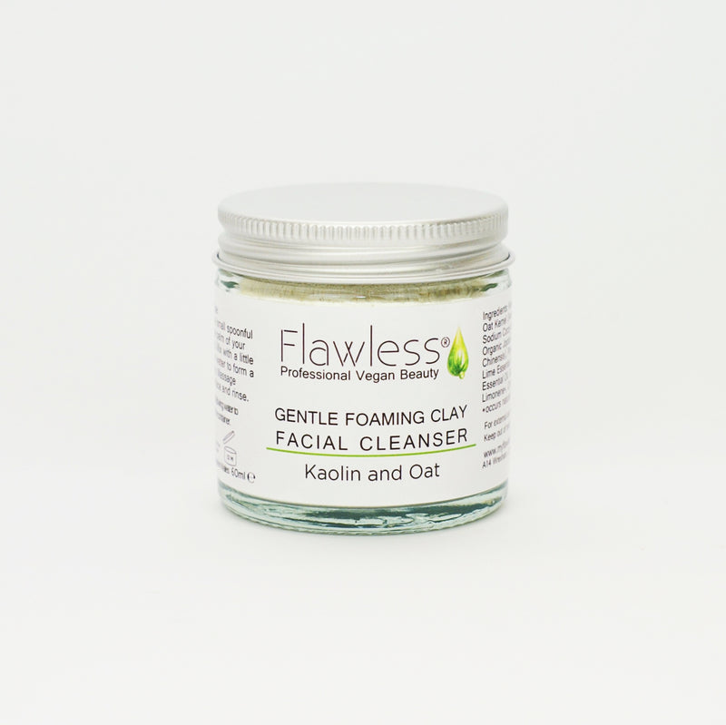 Vegan Foaming Clay Facial Cleanser & Bamboo Spoon by Flawless
