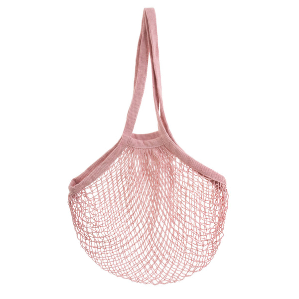 Cotton Long Handle String Bag - Pink