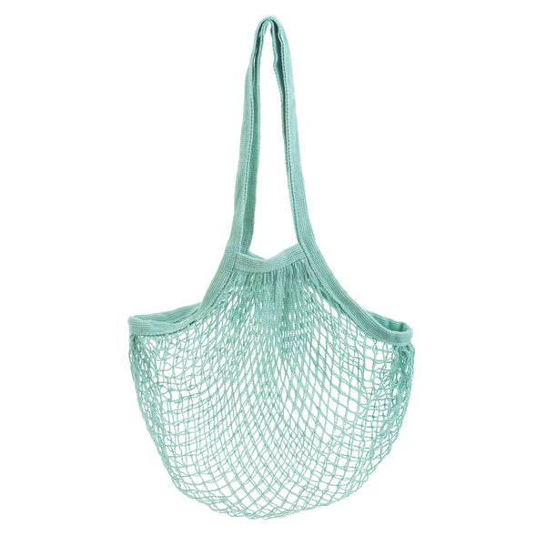 Cotton Long Handle String Bag - Aqua