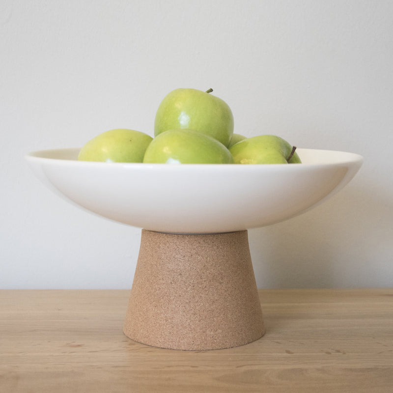 White Cork & Ceramic Fruit Bowl by Liga