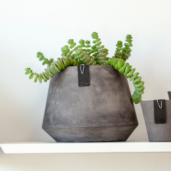 Tokyo Plant Pot - Waterproof Recycled Paper - Grey