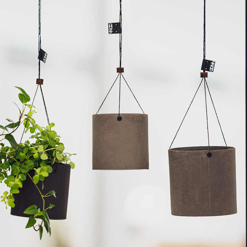 Oohh collection recycled paper hanging plant pots