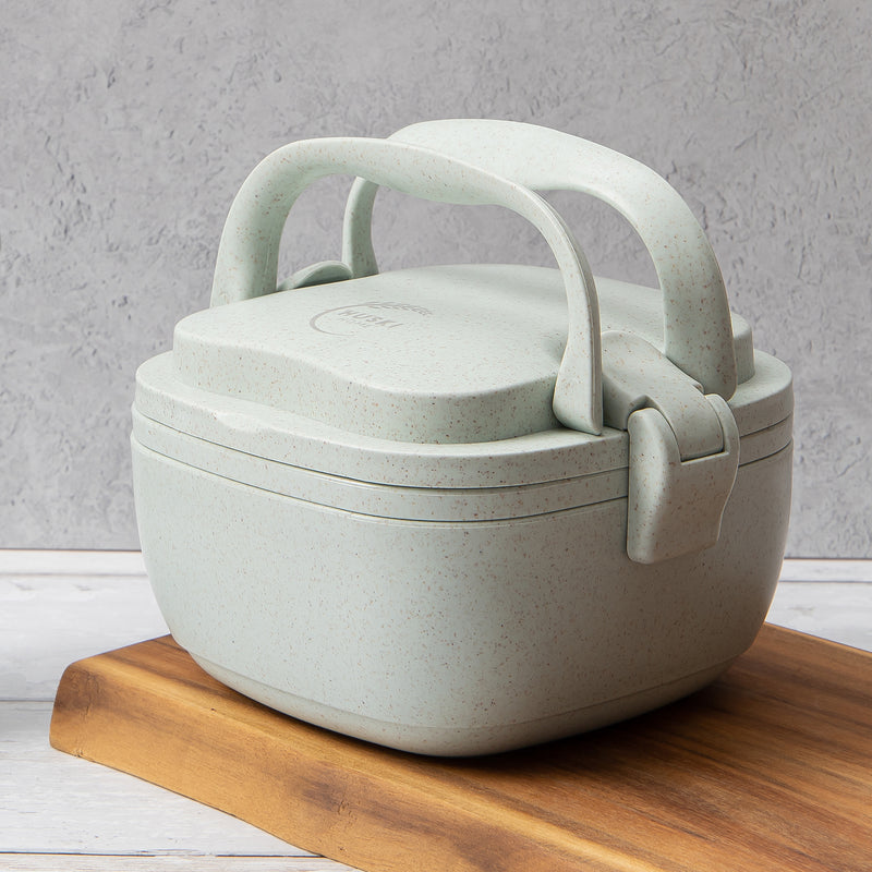 Recycled Rice Husk Lunchbox - Duck Egg