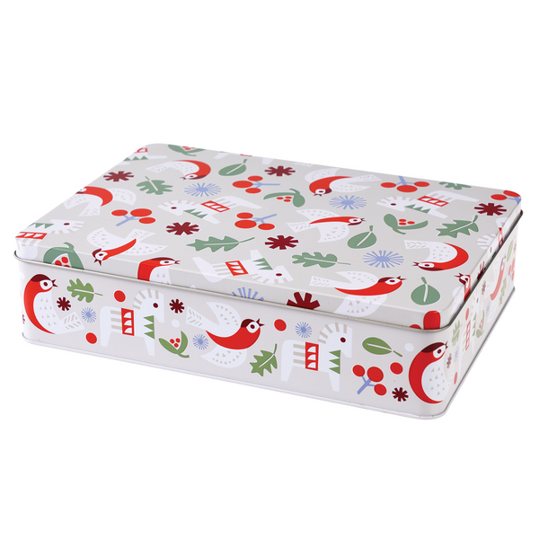 Nordic Christmas Rectangular Cake Tin by Rex London
