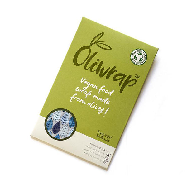 Pack of 3 Oliwrap Vegan Wax Wraps - Winter Leaf by Rowen Stillwater