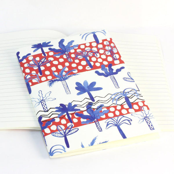 Palm Tree Soft Cover Notebook by Reine Mere
