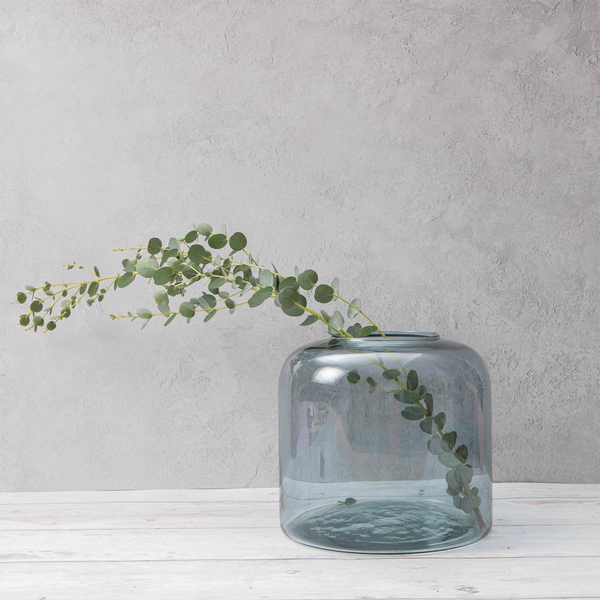 Valencia Large Recycled Glass Vase - Petrol by Oohh Collection