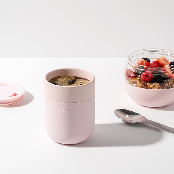 Porter Ceramic Travel Mug in Blush Pink by W&P