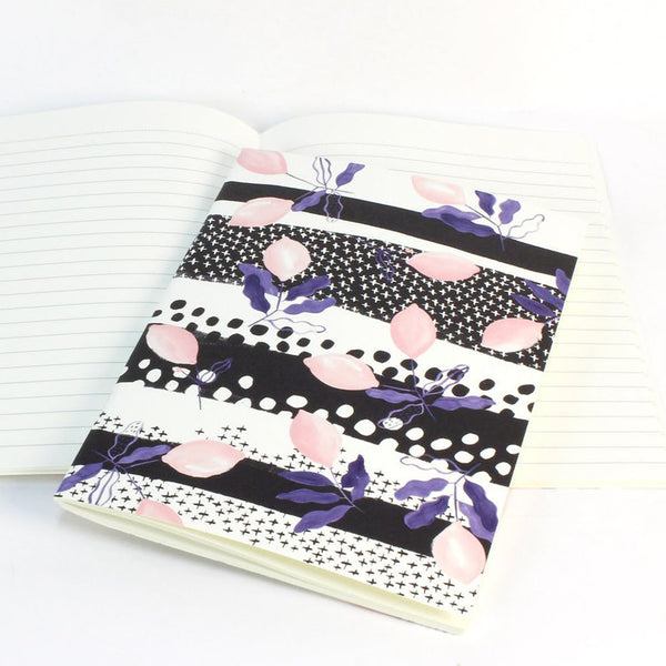 Pink Lemon Soft Cover Notebook by Reine Mere