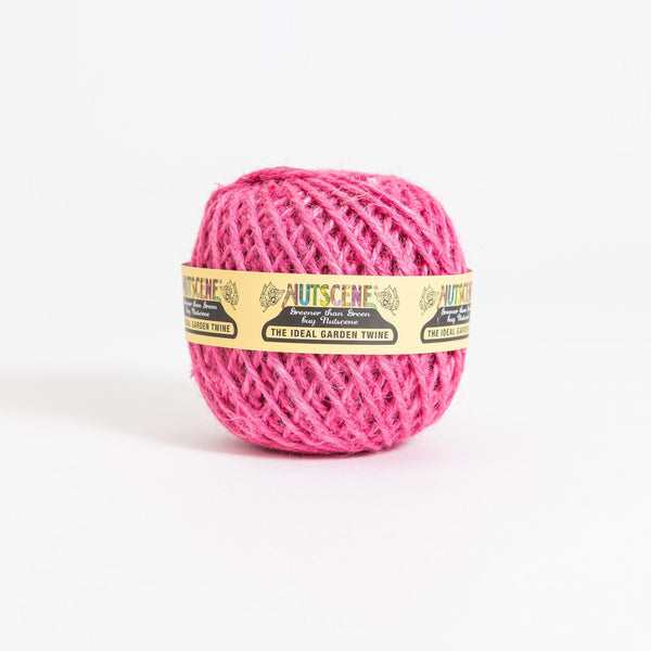 Ball of Pink Jute Twine 40m by Nutscene
