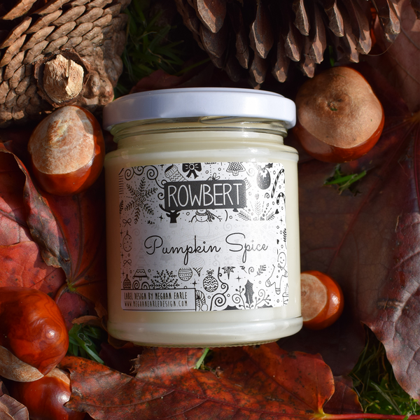 Essential Oil Soy Wax Candle - Pumpkin Spice by Rowbert