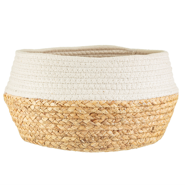 Seagrass & White Rope Basket by Sass & Belle