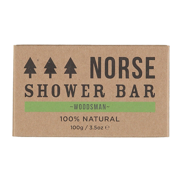 Natural Vegan Shower Bar - Woodsman by Norse
