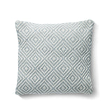 Diamond Woven Cushion Made from Recycled Bottles - Sky Grey