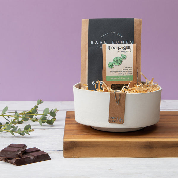 Tea & Chocolate Trinket Bowl Gift Set