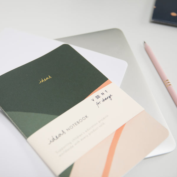Recycled Soft Cover Notebook - Green Lined