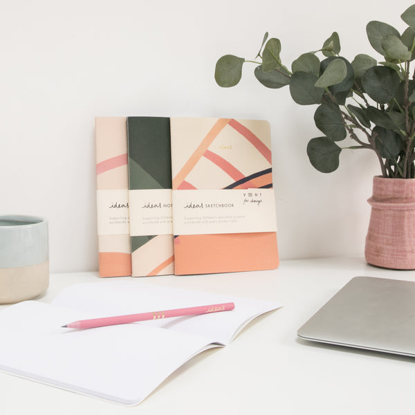 Recycled Soft Cover Sketchbook - Pink Plain
