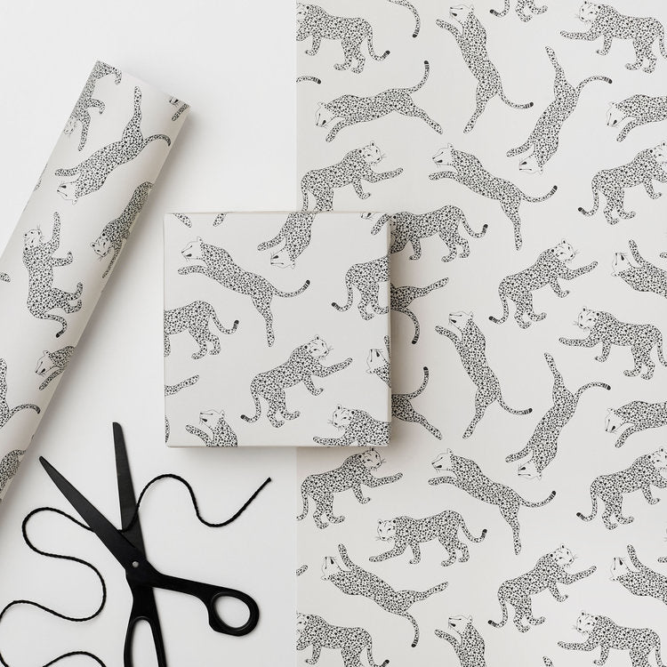 Recyclable Wrapping Paper - Serengeti Leopard