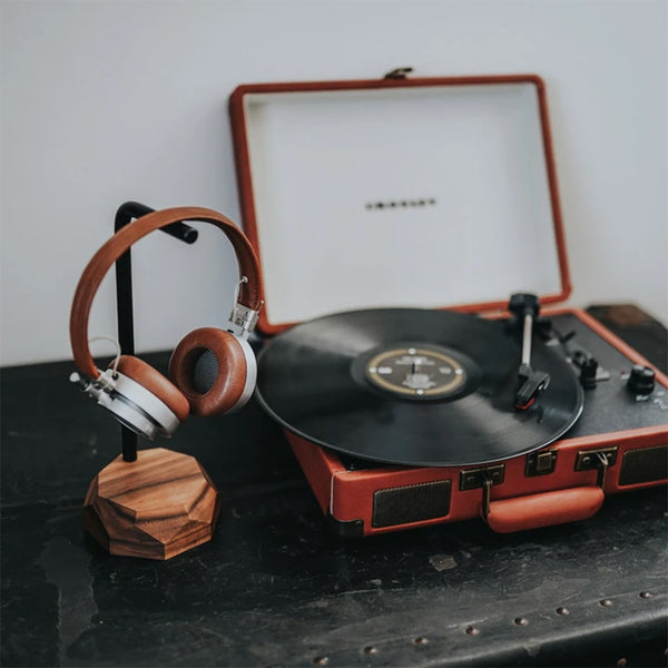 Solid Walnut Wood Headphone Stand by Oakywood
