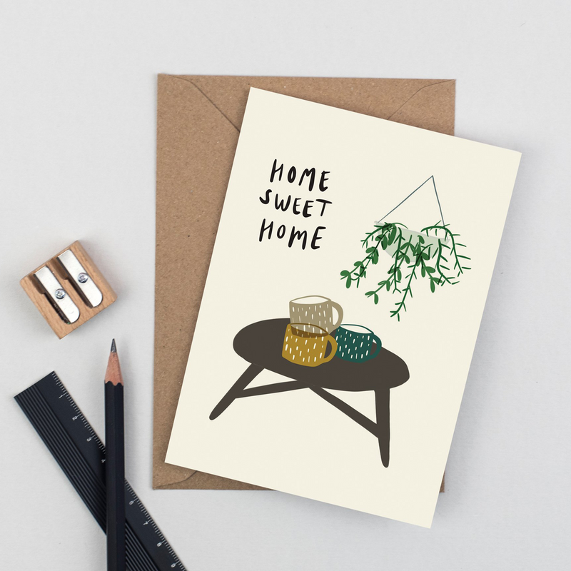 New Home Card - Home Sweet Home by Plewsy