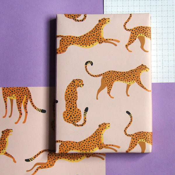 Recyclable Wrapping Paper - Hot Leopard by Cadeaux Paperworks