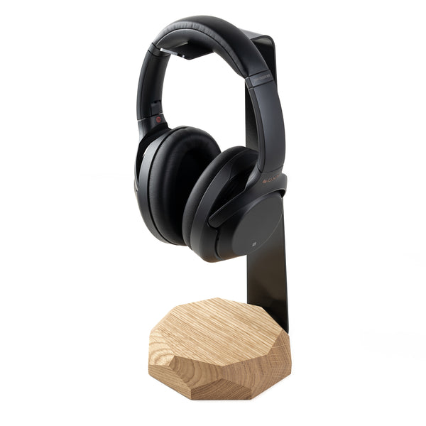 Solid Oak Wireless Charger & Headphone Stand by Oakywood
