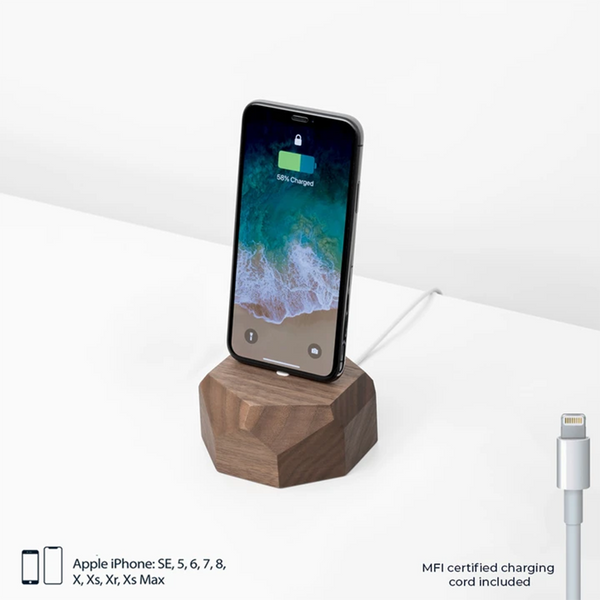 Walnut Wood iPhone Charging Dock by Oakywood