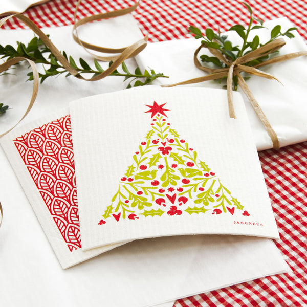 Compostable Swedish Dishcloth - Christmas Tree