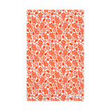 Cotton tea towel orange oak leaf design