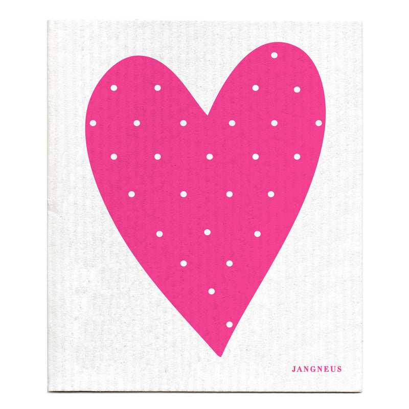 Compostable Swedish Dishcloth - Pink Heart